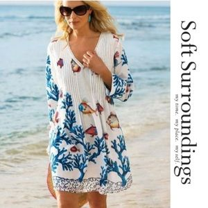 Soft Surroundings Fish & Coral Beach Coverup